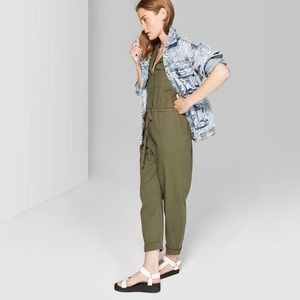 WILD FABLE One Piece Jumpsuit Olive Green NWT M